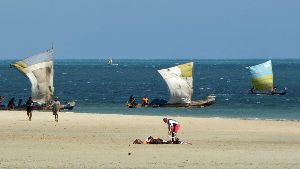 kitesurfing hotel de la plage Ifaty Madagascar